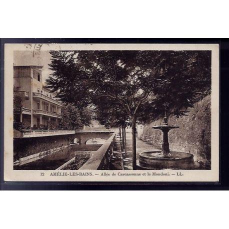 66 - Amelie-les-Bains - Allee de carcassonne et le Mondoni - Voyage - Dos div