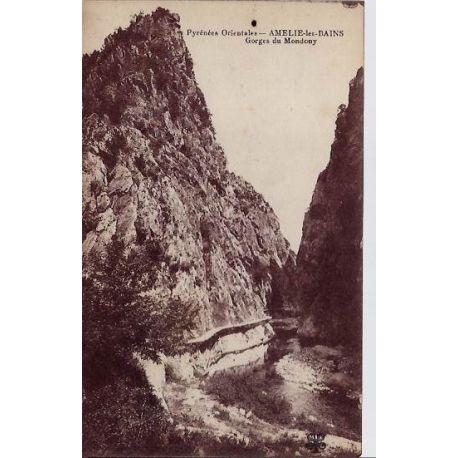 66 - Amelie-les-Bains - Gorges du Mondony - Non voyage - Dos divise