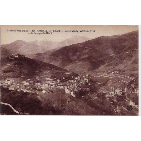 66 - Amelie-les-Bains - Vue generale - Vallee du Tech et la Canigou - Non voy