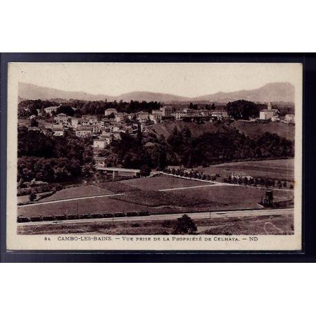 66 - Cambo-les-Bains - vue prise de la propriete de Celhaya - Voyage - Dos di