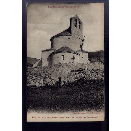 66 - Planes -Pres Mont-Louis - l' eglise ( Monument historique) - Voyage - Do