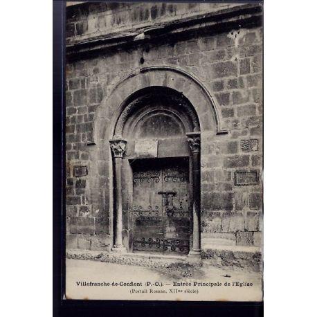 66 - Villefranche-de-Conflent - entree principale de l' eglise - Non voyage -