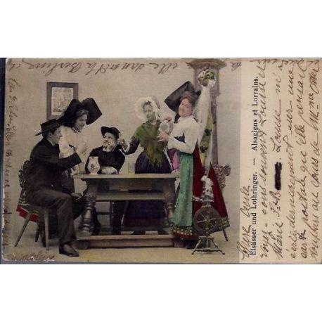 Carte postale 67 - Elsa¤sser und Lothringer - Alsaciens et Lorrains - Voyage - Dos non divise