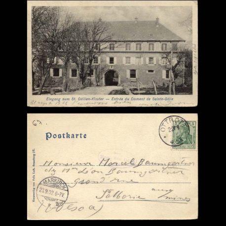 Carte postale 67 - Entree du couvent du Mont Ste Odile - 1902