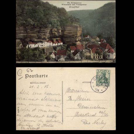 Carte postale 67 - Graufthal - Wirtschaft und Postagentur