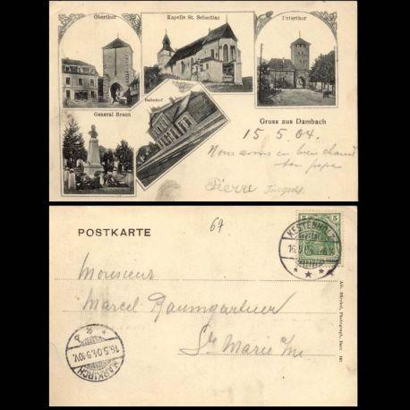 Carte postale 67 - Gruss aus Dambach - Multivue - 1904