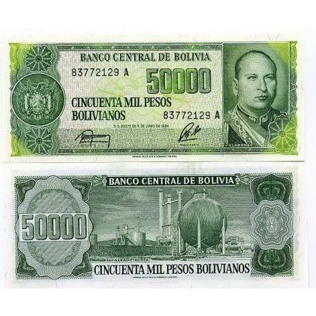 Billets banque Bolivie Pk N° 170 - 50000 Pesos