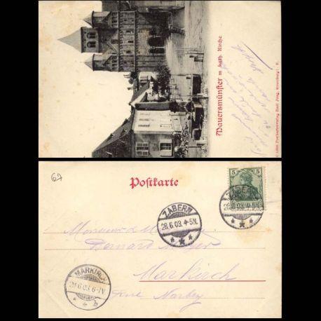 Carte postale 67 - Mauersmunster m kath. Kirche