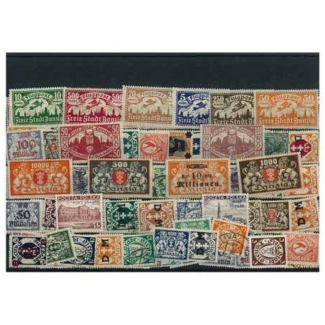 Danzig - 25 verschiedene Briefmarken