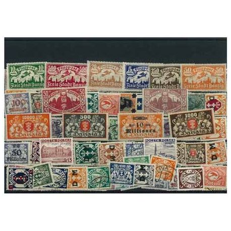 Danzig - 25 different stamps