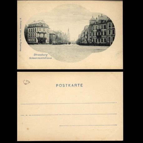 Carte postale 67 - Stassburg - Schwarzwaldstrasse - Felix Luib