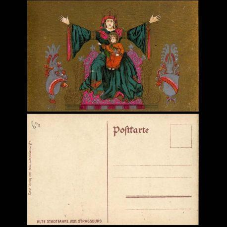 Carte postale 67 - Strasbourg - Alte Stadtfahne von Strassburg