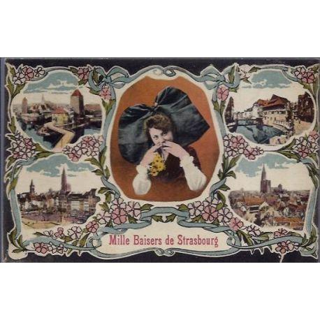 Carte postale 67 - Strasbourg - Differentes vues de la ville -Alsacienne -Non voyage - Dos d