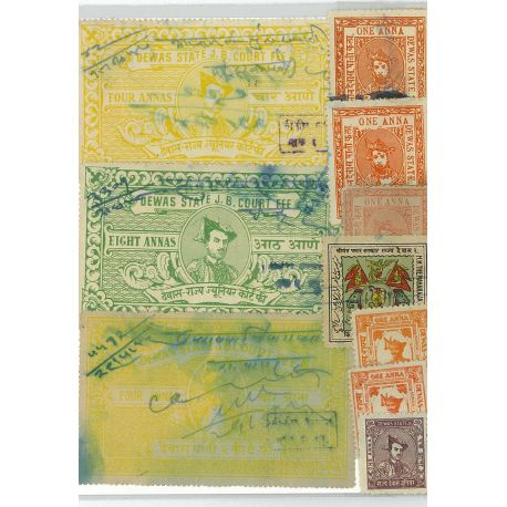 Dewas - 5 different stamps