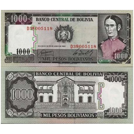 Billets collection Bolivie Pk N° 167 - 1000 Pesos