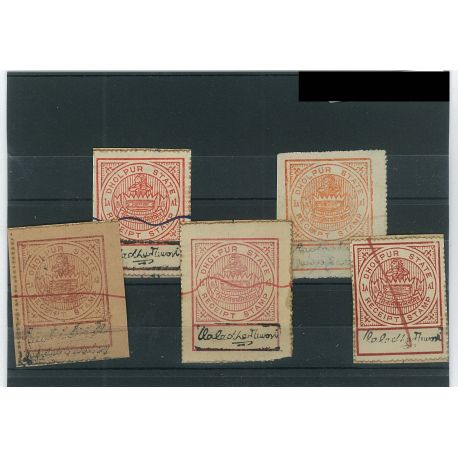 Dholpur - 5 different stamps