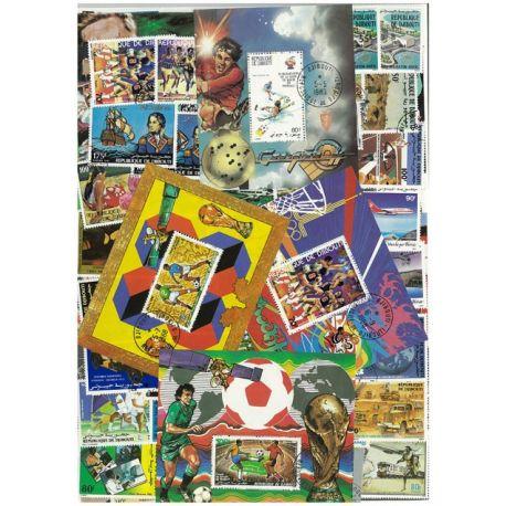 Dschibuti - 25 verschiedene Briefmarken