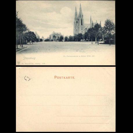 Carte postale 67 - Strassburg - Ev. Garnisonkirche u. Kaiser Wilh.-Str.