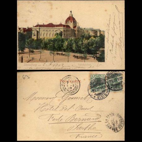 Carte postale 67 - Strassburg - Kaiserpalast - 1902 - II