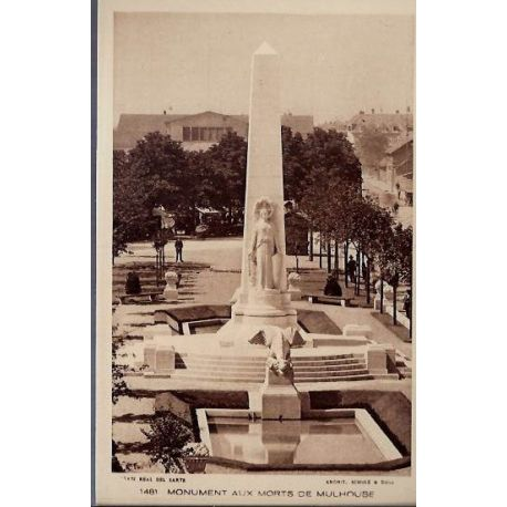 68 - 1481 Monument aux morts de Mulhouse - Non voyage - Dos divise
