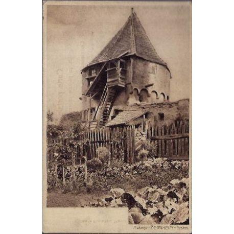 68 - Alsace - Bergheim - Elsass - Maison et son potager - Non voyage - Dos di