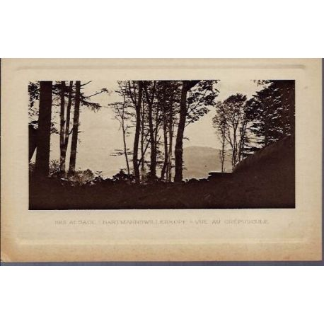 68 - Alsace 1915 - Hartmannswillerkopf - Vue au crepuscule - Non voyage - Dos