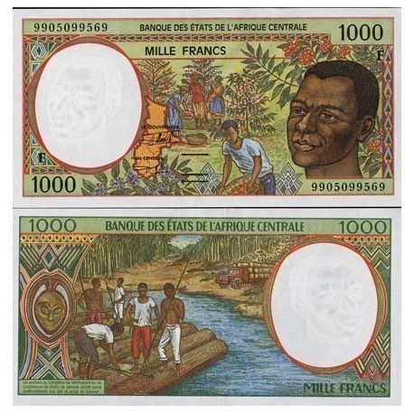 Central Africa Central African Republic - Pk # 302 - ticket 1000 Francs