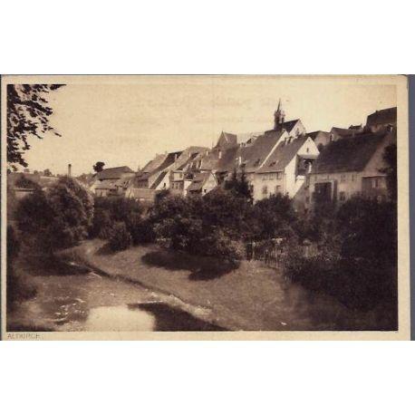 68 - Altkirch - Vue de maisons au bord d'une riviere - Non voyage - Dos divise