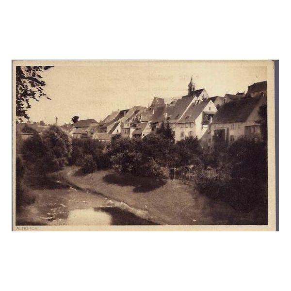 carte postale 68 altkirch vue de maisons au bord d 39 une riviere non voyage dos divise. Black Bedroom Furniture Sets. Home Design Ideas