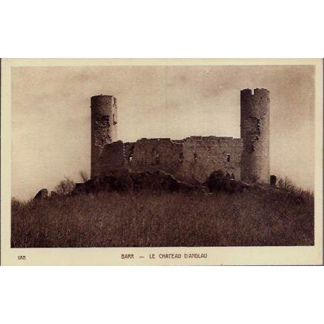 68 - Barr - Le chateau d'Andlau - Voyage - Dos divise