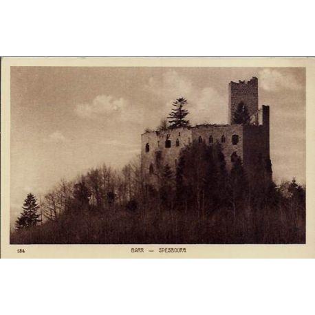 68 - Barr - Spesbourg - Chateau - Non voyage - Dos divise