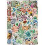 Dominikanische Sammlung gestempelter Briefmarken