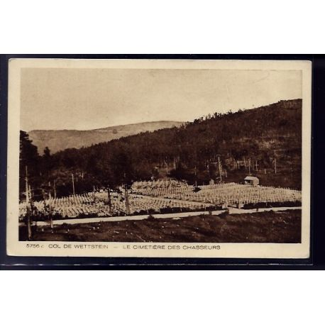 68 - Col de Wettstein - le cimetiere des chasseurs - Non voyage - Dos divise
