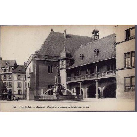68 - Colmar - Ancienne Douane et fontaine de Schwendi - Non voyage - Dos divis