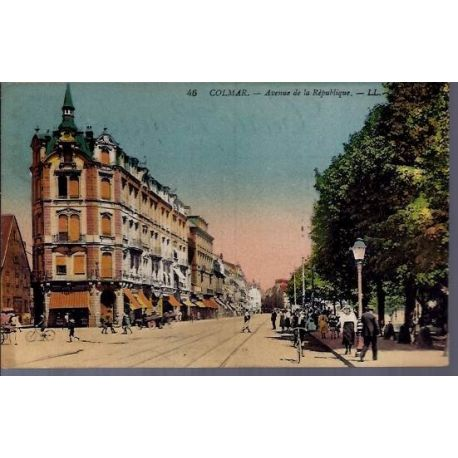 68 - Colmar - Avenue de la republique - Voyage - Dos divise