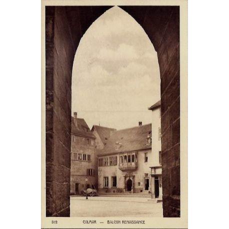 68 - Colmar - Balcon Renaissance - Non voyage - Dos divise