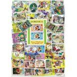 Collection de timbres Dominique oblitérés