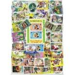Used stamp collection Dominique