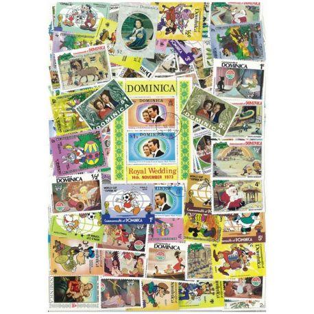 Dominique - 10 verschiedene Briefmarken
