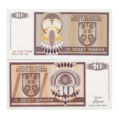 Billets de collection Billet de banque Bosnie Pk N° 133 - 10 Dinara Billets de Bosnie 2,00 €