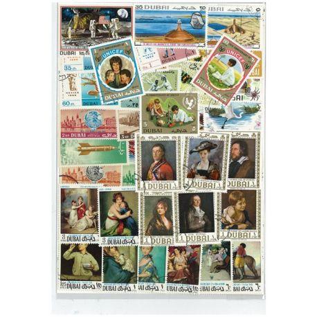 Dubai - 25 verschiedene Briefmarken