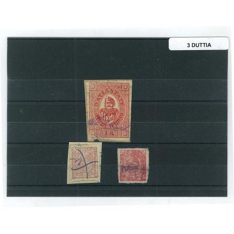Duttia - 3 verschiedene Briefmarken