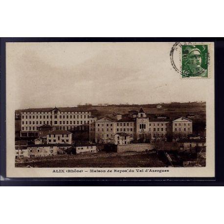 Carte postale 69 - Alix - Maison de repos du Val d' Azergues - Voyage - Dos divise