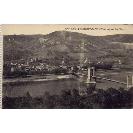 Carte postale 69 - Couzon-au-Mont-d'or - Le pont - Non voyage - Dos divise