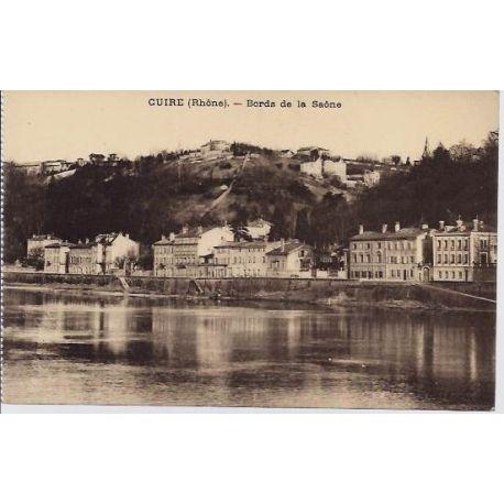 Carte postale 69 - Cuire - Bord de la Saone - Non voyage - Dos divise