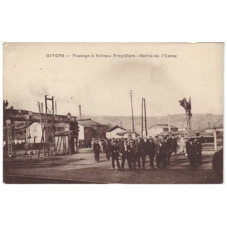 Carte postale 69 - Givors - Passage a niveau Freydiere