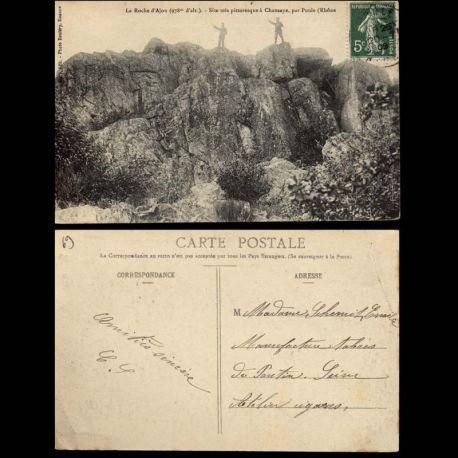 Carte postale 69 - La Roche d'Ajou - Site a Chansaye par Poule