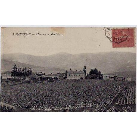 Carte postale 69 - Lantignie - Hameau de Monthieux - Voyage - Dos divise