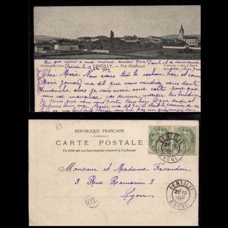 Carte postale 69 - Lentilly - Vue generale - 1902