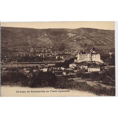 Carte postale 69 - Lyon - Chateau de rochetaillee en Franc-Lyonnais - Non voyage - Dos divis